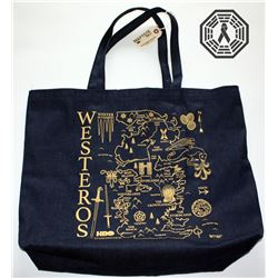 Game of Thrones Westeros Tote Bag, Coloring Book & Dire Wolf Flash Drive