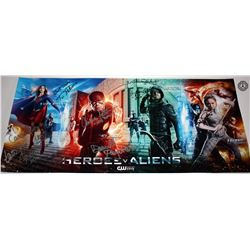 Heroes v Aliens DC TV Poster Signed by K McGrath, D Panabaker, C Patton & More!