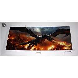Hobbit, The: The Desolation of Smaug (Smaug Over Lake-Town) Art Print