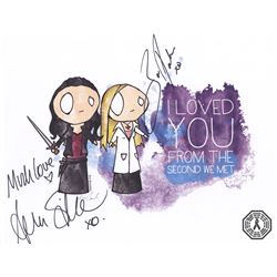 Lost Girl Bo & Lauren Art Print Signed by Zoie Palmer and Anna Silk