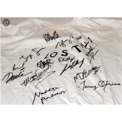 LOST Season 1 T-Shirt Signed by 14 Cast