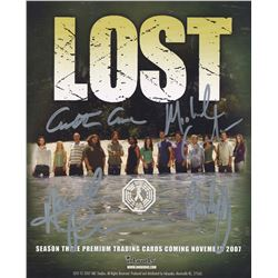 LOST Season 3 Card Promo Signed by Cuse, Giacchino, Lindelof, Perrineau