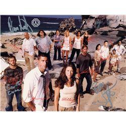 LOST Season 1 Cast Photo Signed by JJ Abrams, B. Burk, C. Cuse, D. Lindelof
