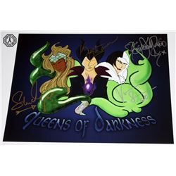 Once Upon a Time Queens of Darkness Print Signed by 4 Cast