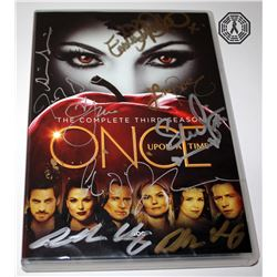 Once Upon a Time: Season 3 DVD Signed by 10 Cast/Creative Team