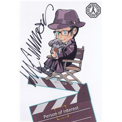 Person Of Interest Harold Finch Fan Art Signed by Michael Emerson