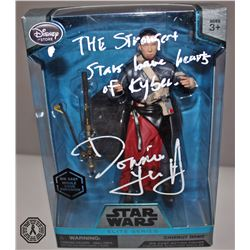 Rogue One: A Star Wars Story Chirrut Îmwe Action Figure Signed by D. Yen