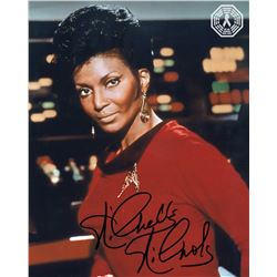 Star Trek TV Series Lieutenant Uhura Photo Signed by Nichelle Nichols + Purse