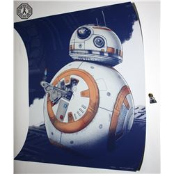 Star Wars BB-8 Print (Limited Edition) + Droids Pin