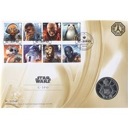 Star Wars Limited C3PO Medal Coin & Stamp Set (Limited Edition)