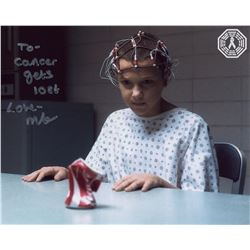 Stranger Things Eleven Photo Signed by Millie Bobby Brown
