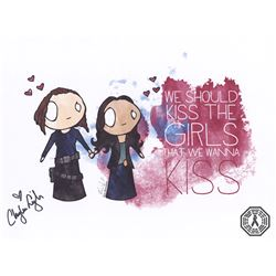 "Supergirl Alex & Maggie ""Kiss The Girls"" Art Print Signed by Chyler Leigh"