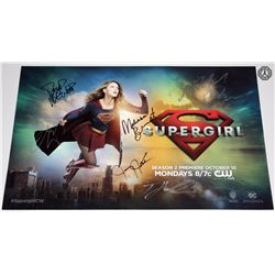 Supergirl Poster Signed by Benoist, Leigh, Brooks, Jordan, Harewood, Hoechlin