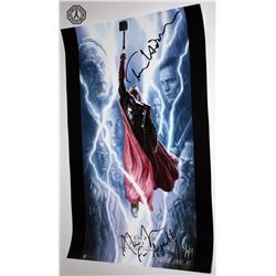 Thor: Dark World SDCC 2013 Concept Art Poster Signed by T. Hiddleston, A. Taylor