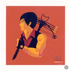 Walking Dead, The - Daryl  Crossbow'd  Screen Print (Limited Ed.) Signed by N. Reedus