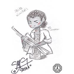 Walking Dead, The - Sasha Original Doodle Signed by S. Martin-Green