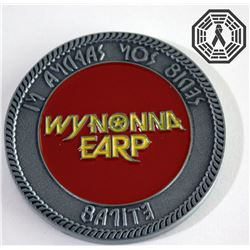 Wynonna Earp Special Deputy Coin (Custom) & Name Tag Signed by E. Andras