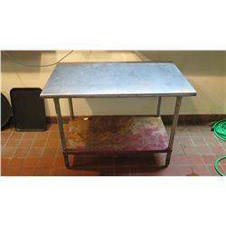 "Stainless Steel Prep Table 48"" x 30"" (damage to undershelf)"