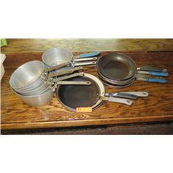 8 Sauce Pots, 8 Saute Pans