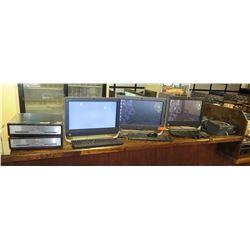 3 HP Computers w/ Adelo, 2 Cash Register Drawers, 4 Printers