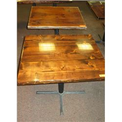 """2 Square Wooden Tables 33"""" X 36"""""""
