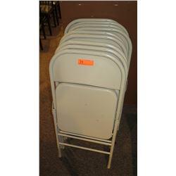 Qty 9 Metal Folding Chairs