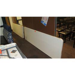 "2 Lifetime 80299 Plastic Folding Tables 95"" X 30"""