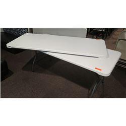 """2 Lifetime 80272 Plastic Folding Table 71"""" X 30"""""""