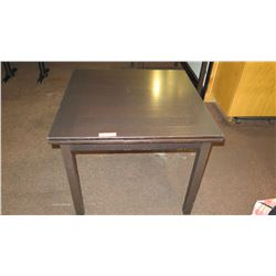 """Square Wood Table w/ Folding Leaves 35""""X35"""" (66""""L w/ Leaves Extended)"""