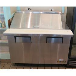 """True TSSU-48-18M-B-HC 48"""" Sandwich / Salad Prep Table w/ Refrigerated Base"""