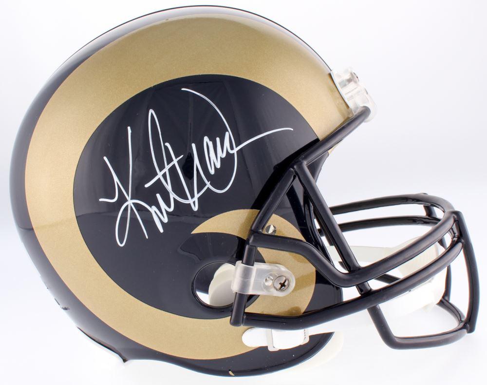 lowest price 16d48 abbbb Kurt Warner Signed Rams Full-Size Helmet (Warner Hologram)