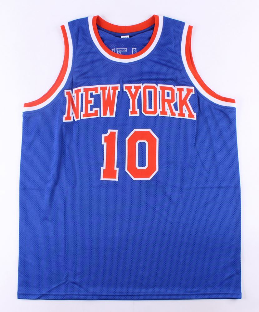 new product 02e02 22356 Walt Frazier Signed Knicks Jersey (JSA COA)