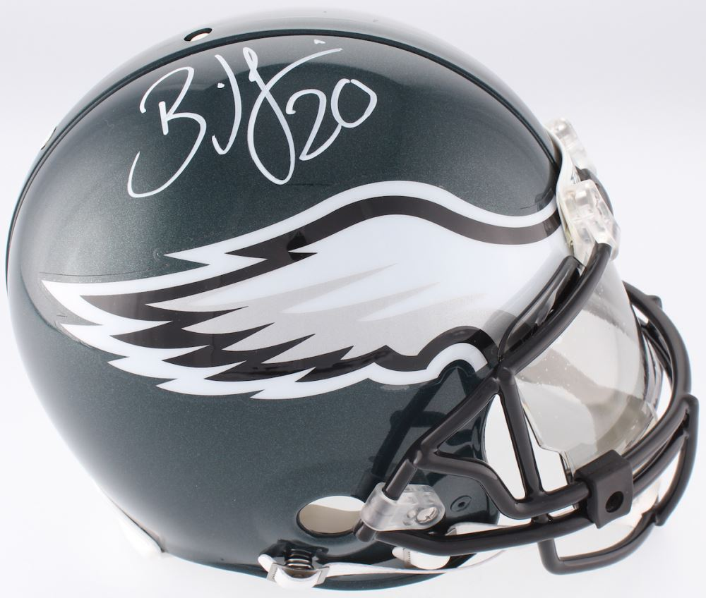 5c54ff87a17 Image 1 : Brian Dawkins Signed Eagles Full-Size Authentic On-Field Helmet  With