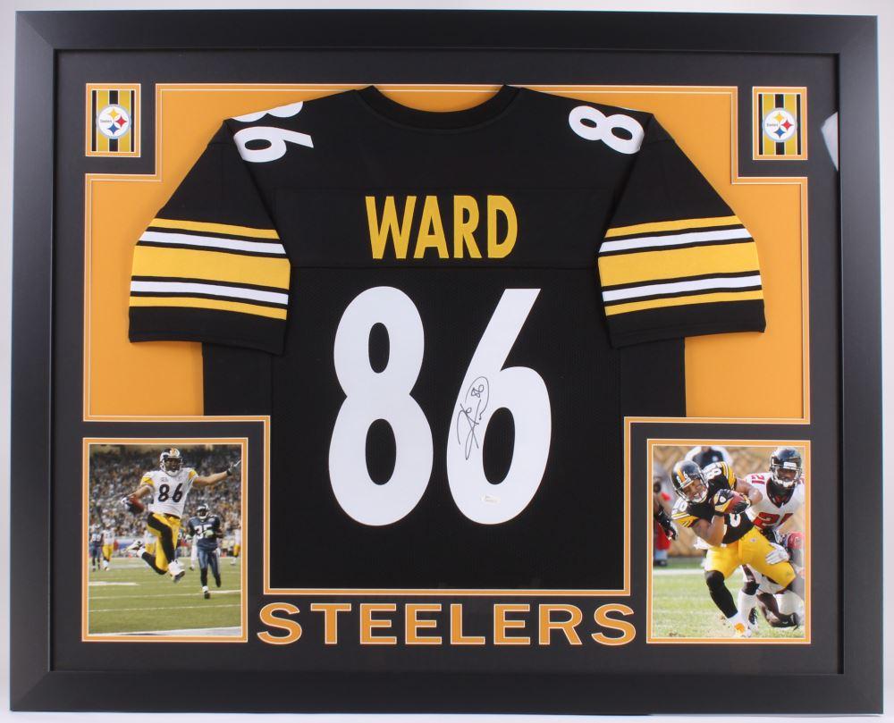 c617e98323b Image 1 : Hines Ward Signed Steelers 35x43 Custom Framed Jersey (JSA COA)