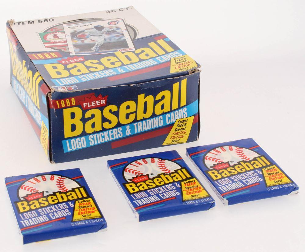 1988 Fleer Baseball Box Of 36 Wax Packs