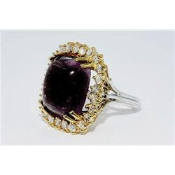 #FB-12 22 ct Tourmaline & Diamond Ring