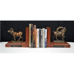 #SLA-12 Mongolia Bookend Bronzes and Hunting Books