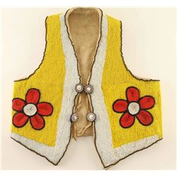 Men's Beaded Buckskin Vest