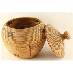 Alaskan Indian Basket with Lid
