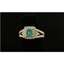 Stunning Ladies Blue Diamond Ring Set