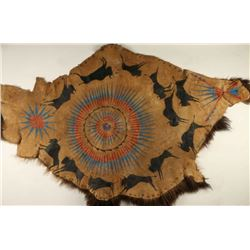 Painted Buffalo Hide