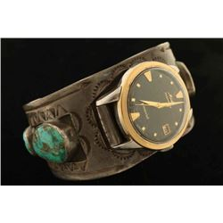 Navajo Turquoise & Silver Cuff Watch