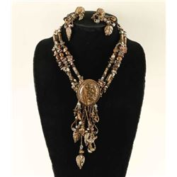 Diane Silver Necklace & Earrings Set