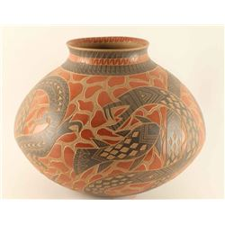Incised Carved Snake Pot