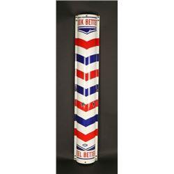 Porcelain Barber Pole/Sign