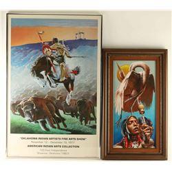 Original Oil & Print by Parker Boyiddle