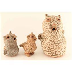 Lot of 3 Acoma Pottery Owls