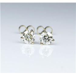 Dazzling Round Cut Diamond Earrings