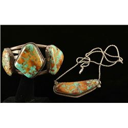 Navajo Old Pawn Necklace & Cuff