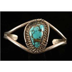 Vintage Turquoise & Sterling Silver Bracelet